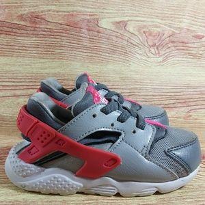 Nike Huarache Pink Gray Toddler Sneakers 8C